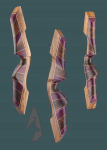 Riser Ventaglio dell arco ricurvo Tradizionale Testarossa