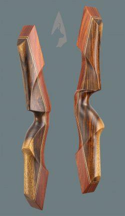 Riser dell' arco ricurvo tradizionale Testarossa in Rosa e Shedua