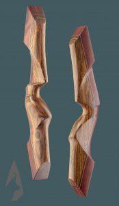 Riser dell' arco ricurvo tradizionale Testarossa in Rosa e Bocote
