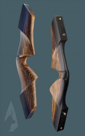 Riser dell' arco ricurvo tradizionale Testarossa in Ebano e Bocote