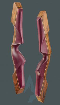 Riser dell' arco tradizionale ricurvo Testarossa in Bocote e amaranto